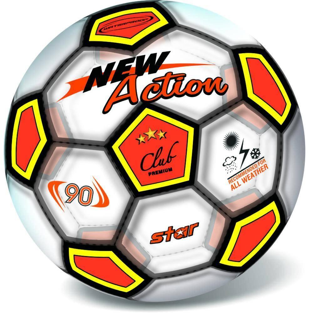Μπάλα Πλαστική Μεγάλη 23cm Soccer New Action Διάφανη