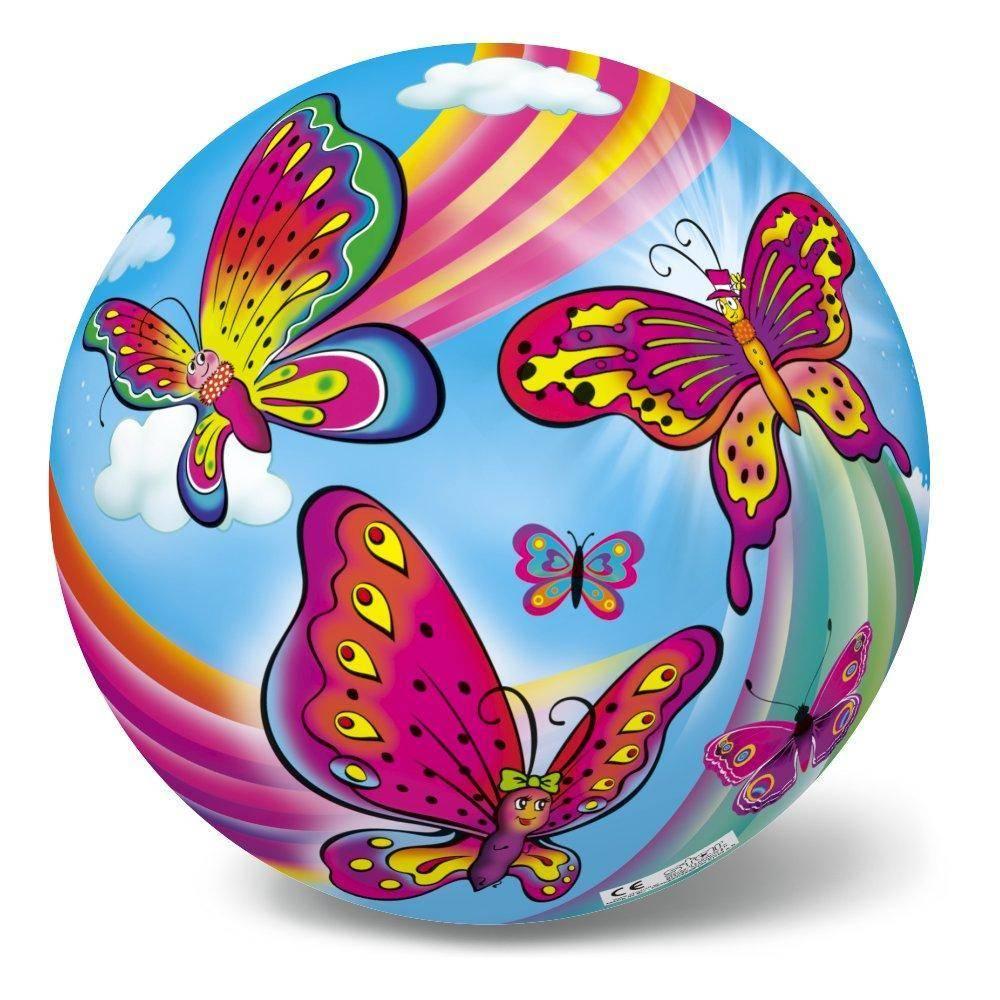 Μπάλα Πλαστική Μεγάλη 23cm Πεταλούδες