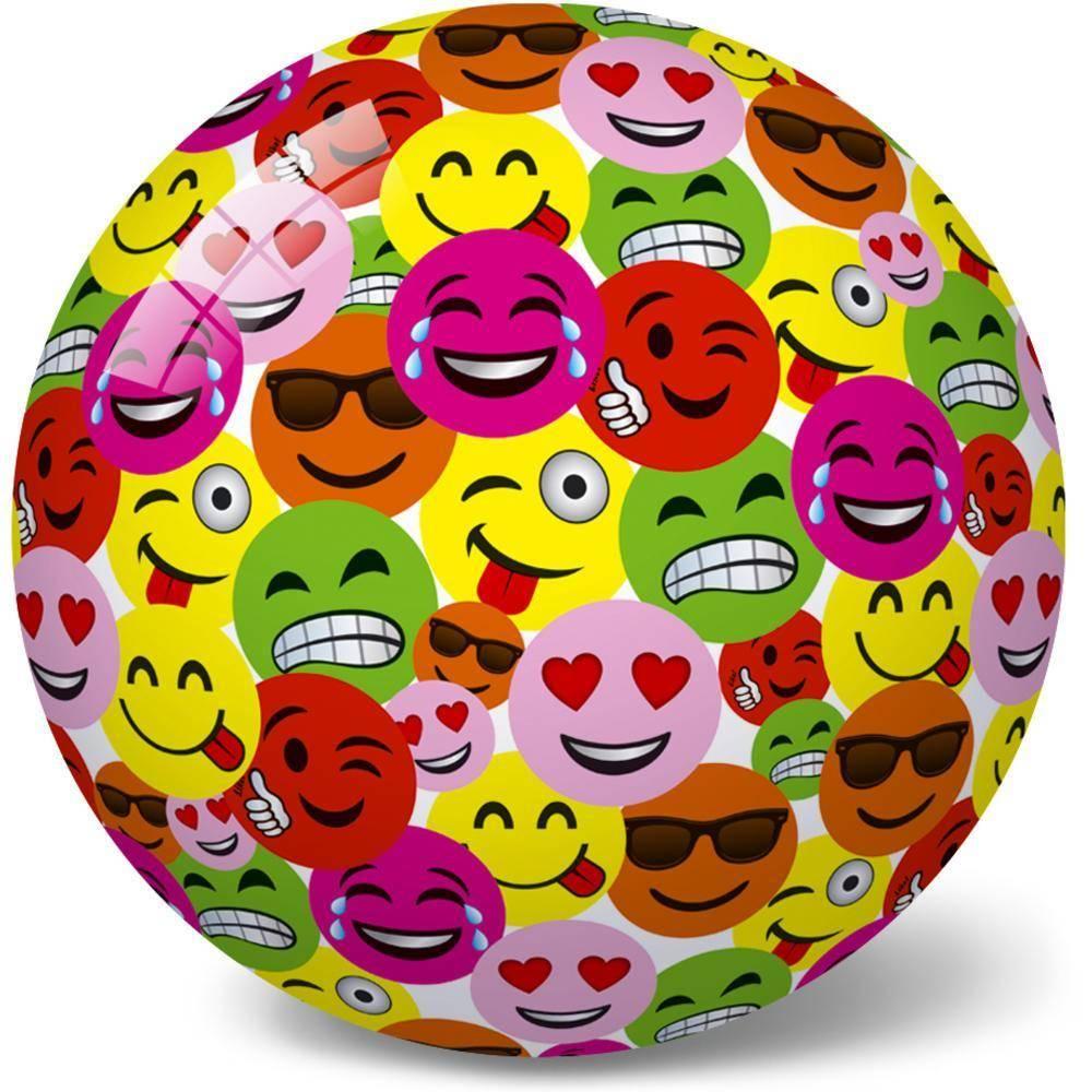 Μπάλα Πλαστική Μεγάλη 23cm Φατσούλες-Μulti