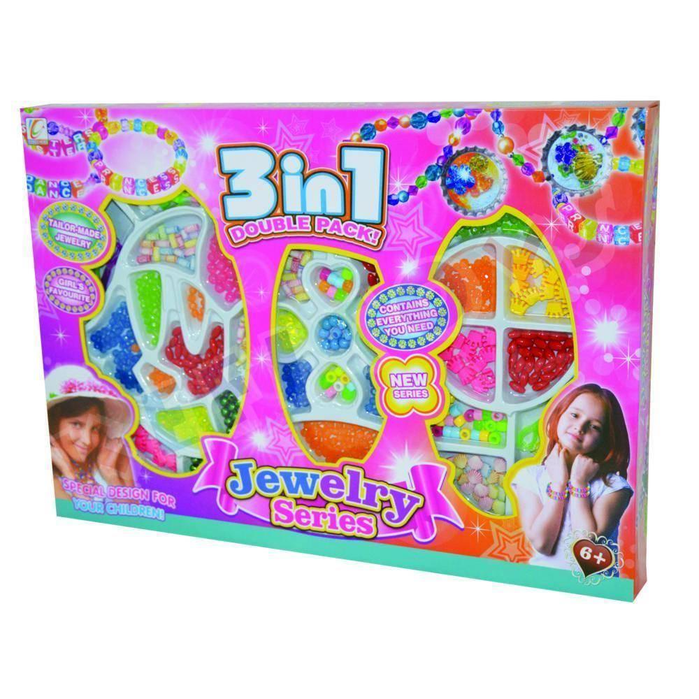 Παιδικό Σετ Κατασκευής Με xάντρες Για Κοσμήματα 3 σε 1