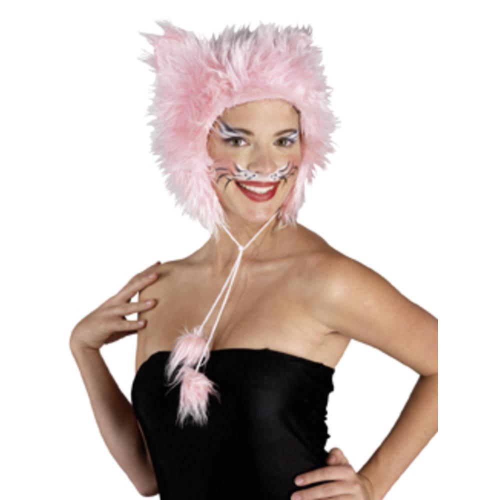 Ροζ Καπέλο Γάτας Γούνινο
