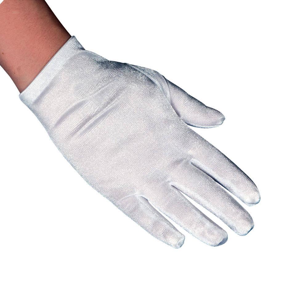 Ασπρα Παιδικά Γάντια Σατέν