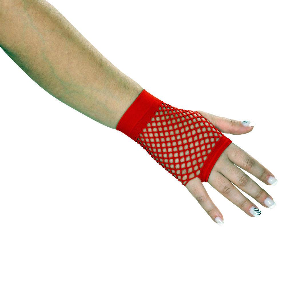 Κοντά Διχτυωτά Γάντια Κόκκινα