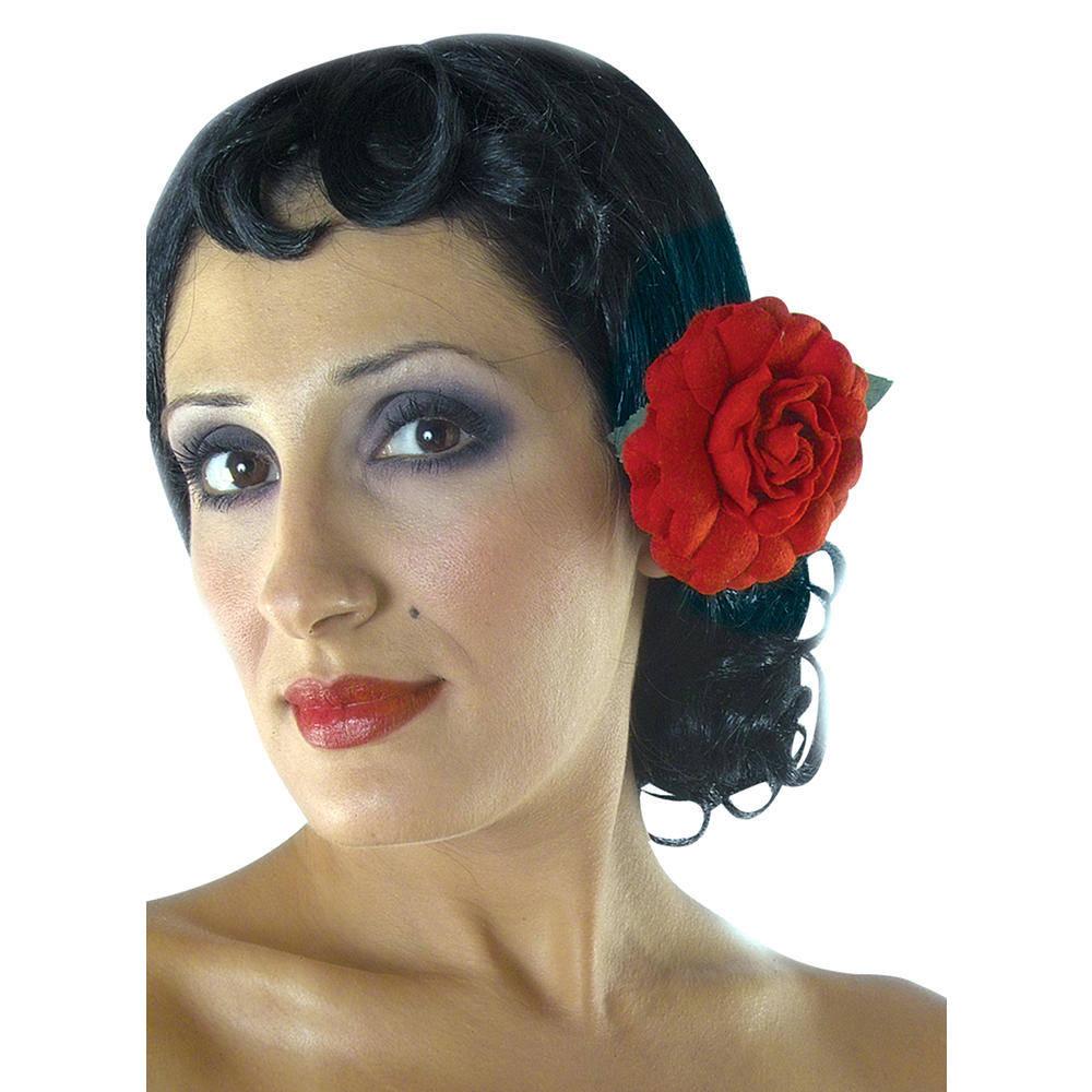 Περούκα Σπανιόλας Με Λουλούδι