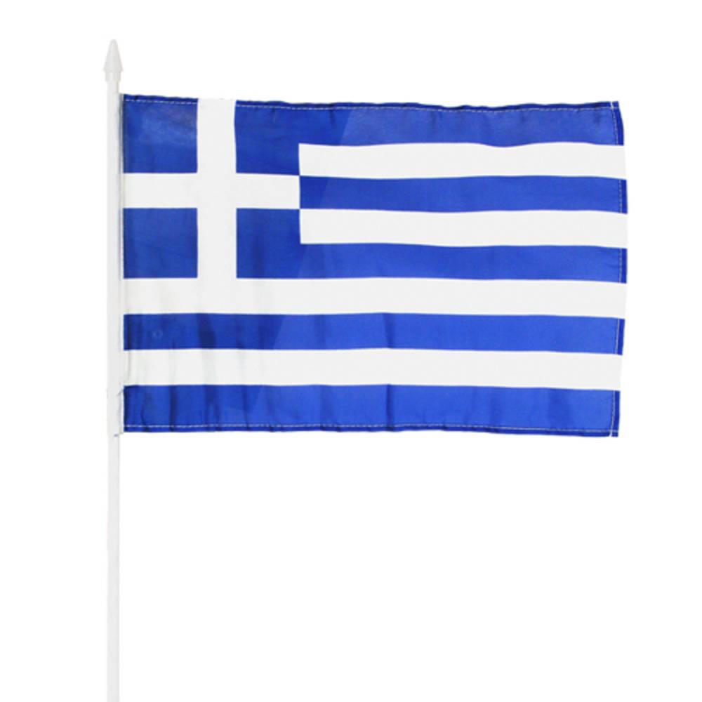 ΕΛΛΗΝΙΚΗ Σημαία πάνινη 45Χ30εκ σε πλαστικό κοντάρι
