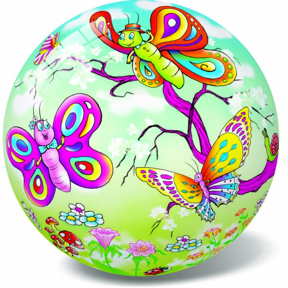 Μπάλα πλαστική Πεταλούδες 23cm 10/048Π