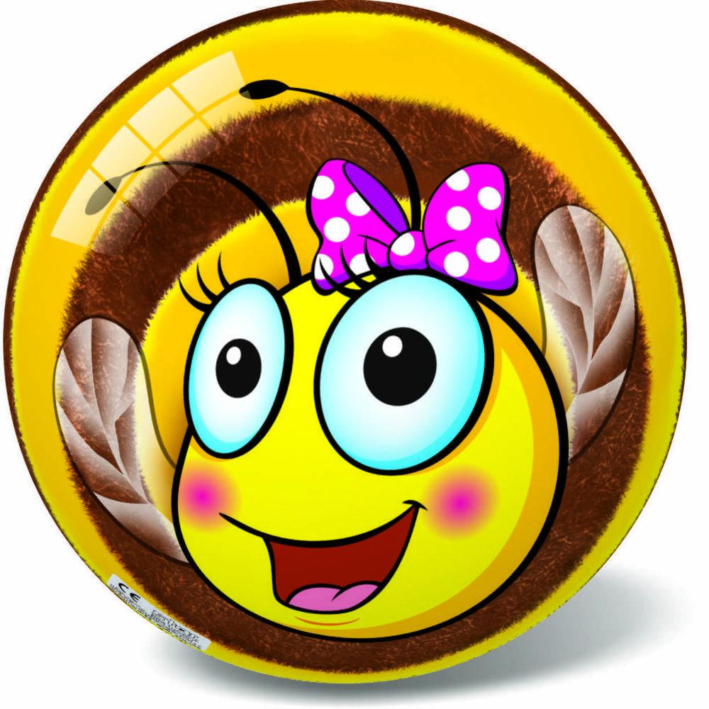 Μπάλα Πλαστική Μεγάλη 23cm Bee Happy